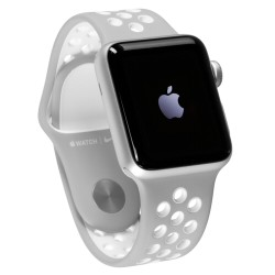 Apple Watch 2 Nike+ 38mm Silver Alu Case Flat Silver/White Band
