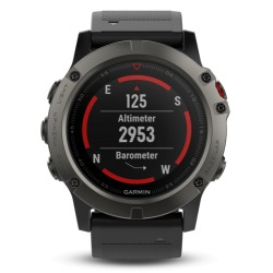 Garmin fenix 5X saphir grey with black Armband 51mm