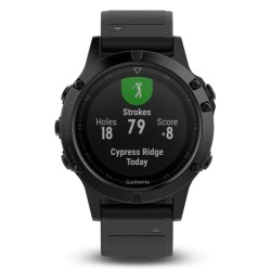 Garmin fenix 5 saphir black with black Armband 47mm